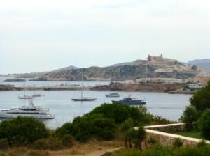 Vista de Dalt Vila desde el hotel Destino