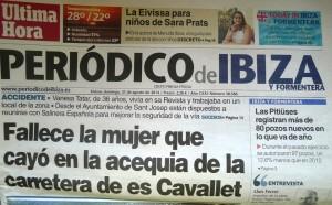 Portada El periódico de Ibiza