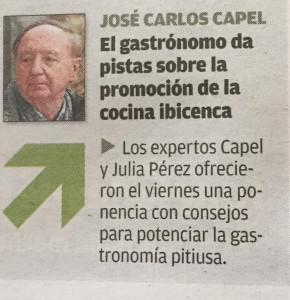 José Carlos Capel sube