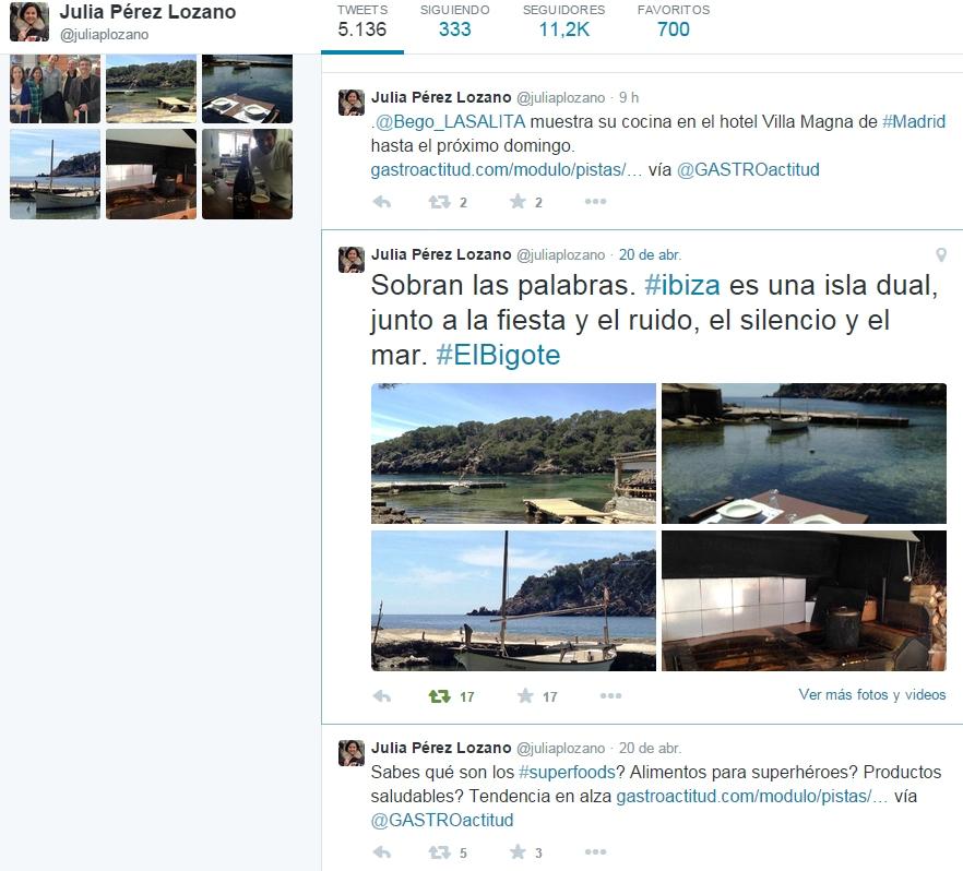Julia Pérez Lozano El Bigotes
