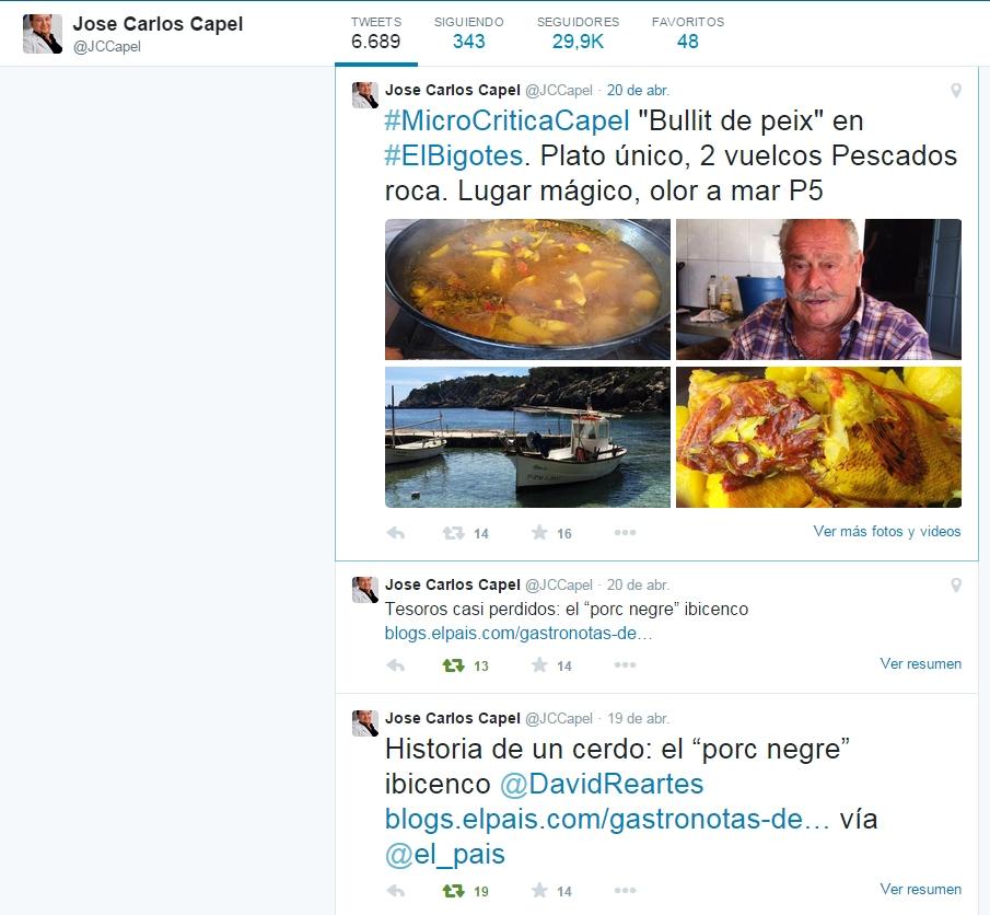 Microcritica Capel El Bigotes