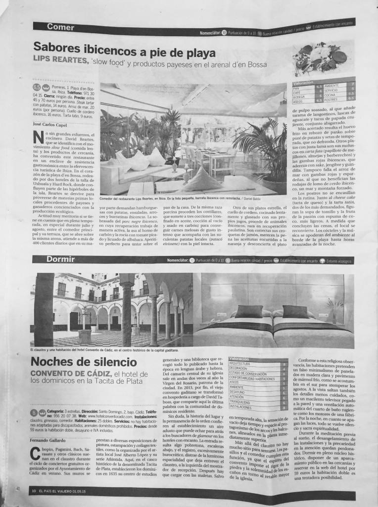 Crítica restaurante Lips José Carlos Capel en El Viajero de El País