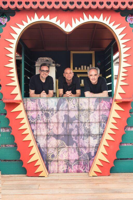 Los hermanos Adriá y Gay Laliberté en Heart Ibiza