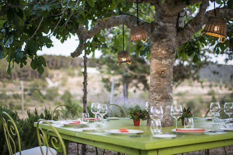Terraza romántica de Can Domingo