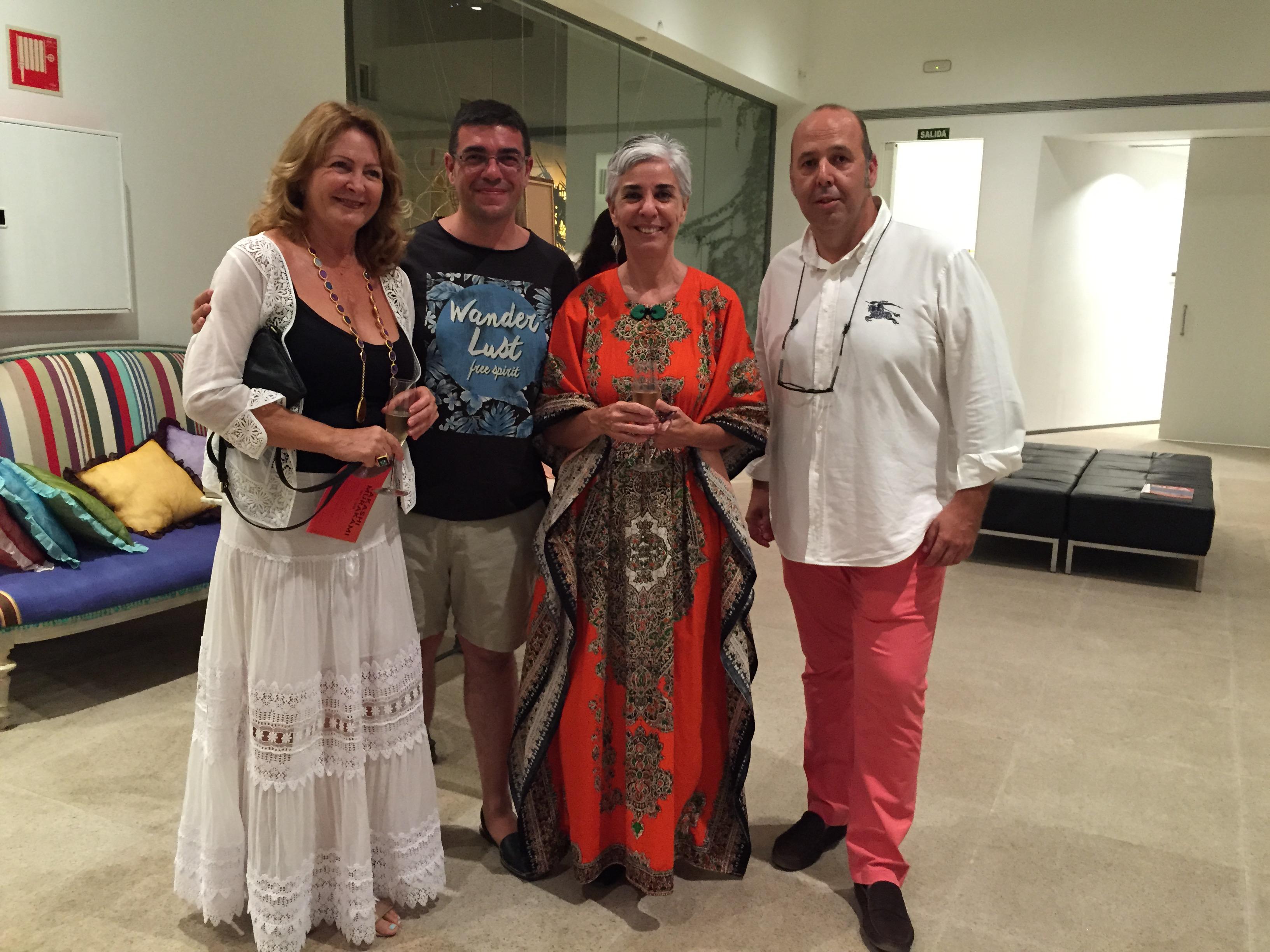 Charo Ruiz, Xescu Prats, Elena Ruiz Sastre y Antonio Beneyto