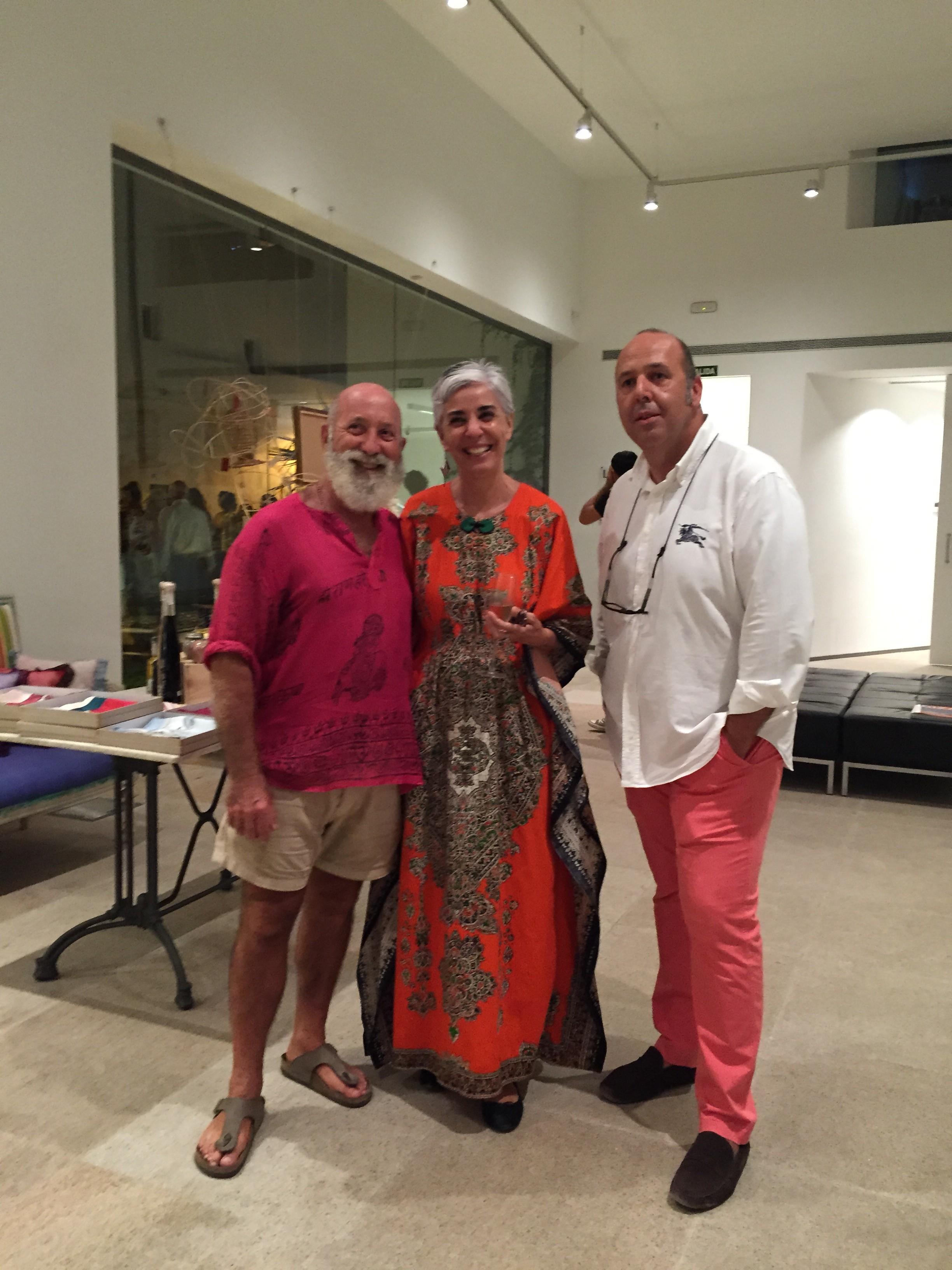 Vicente Ganesaha, Elena Ruiz Sastre y Antonio Beneyto