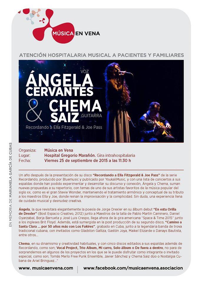 Ángela Cervantes y Música en Vena Gregorio Marañón