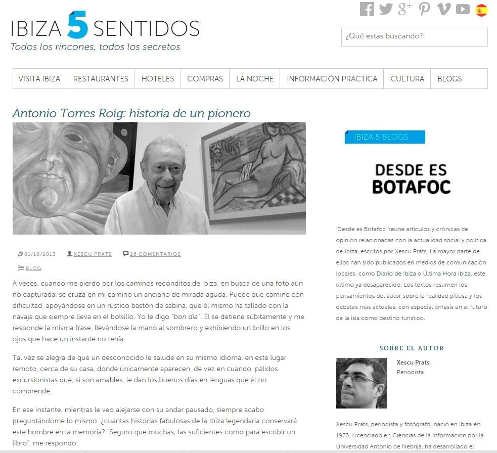 Antonio Torres pionero