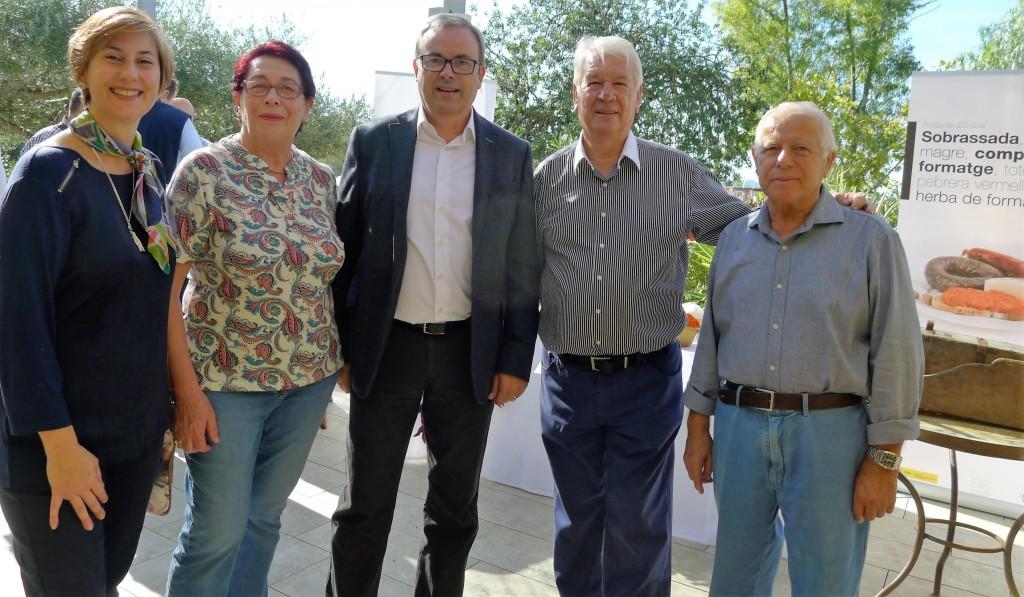 presidente del Consell de Ibiza y Joan Riera