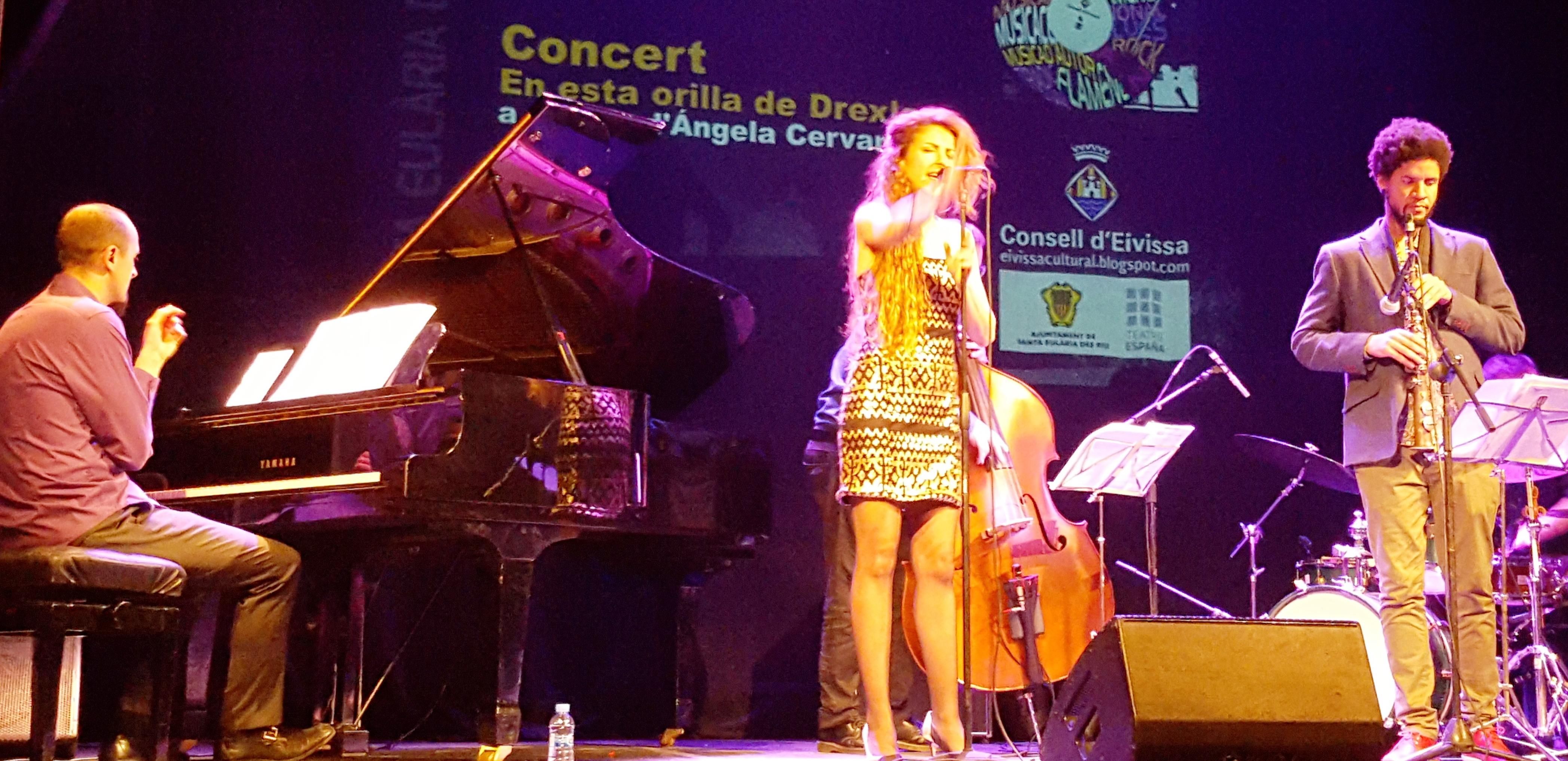 Ángela Cervantes solista de jazz