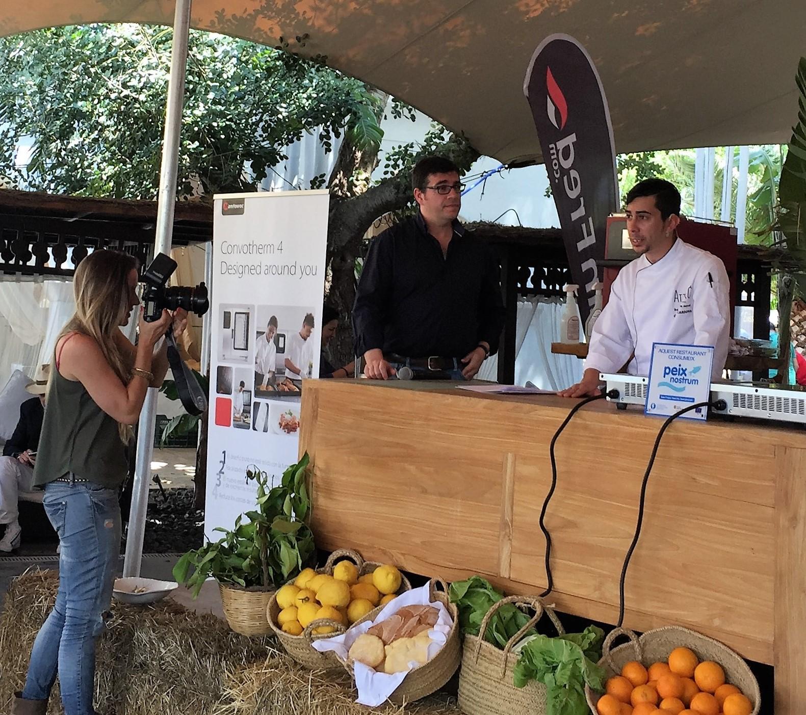Chef de La Veranda de Atzaró en el Foto de Gastronomía del Mediterrñáneo
